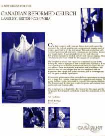 Casavant advertisement featuring Opus 3872